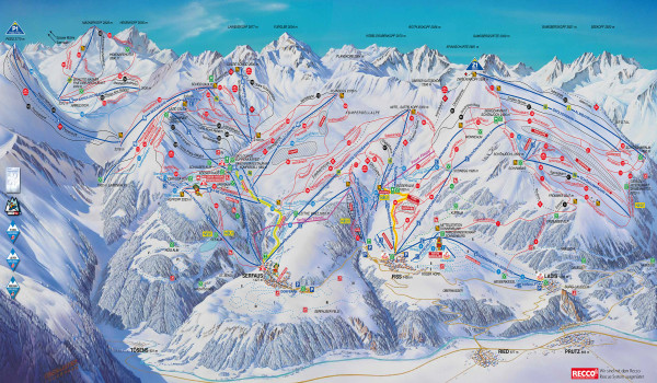 Serfaus-Fiss-Ladis Piste Map